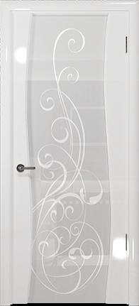 Арт Деко Vatikan Premium Глянец Вэла белый глянец триплекс кипельно-белый с рисунком Альтеза
