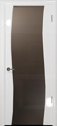 Арт Деко Vatikan Premium Глянец Вэла белый глянец триплекс мокко