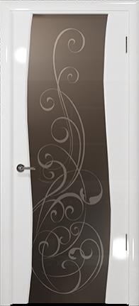 Арт Деко Vatikan Premium Глянец Вэла белый глянец триплекс мокко с рисунком Альтеза