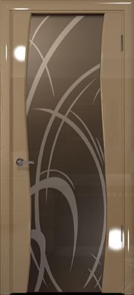 Арт Деко Vatikan Premium Глянец Вэла  бежевый глянец триплекс тонированный рисунок с пескоструйной обработкой