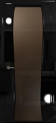 Арт Деко Vatikan Premium Глянец Лиана-3  черный глянец, триплекс тонированный