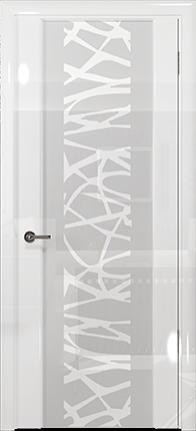 Арт Деко Vatikan Premium Глянец Спациа-3 белый глянец триплекс кипельно-белый с рисунком Чиза