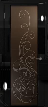 Арт Деко Vatikan Premium Глянец Спациа-3  черный глянец триплекс тонированный с рисунком Альтеза