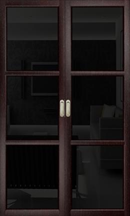 Арт Деко Vatikan Premium Трио венге триплекс черный