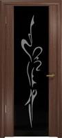 """Арт Деко Стайл Спация-3 орех американский триплекс черный с рисунком """"Балерина"""""""