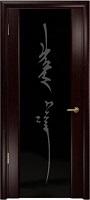 Арт Деко Стайл Спация-3 венге триплекс черный с рисунком «Чингизхан»
