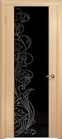 Арт Деко Стайл Спация-3 беленый дуб триплекс черный с рисунком cо стразами