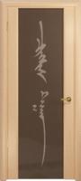 Арт Деко Стайл Спация-3 беленый дуб триплекс тонированный с рисунком «Чингизхан»