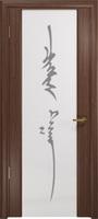 Арт Деко Стайл Спация-3 орех американский триплекс белый с рисунком «Чингизхан»