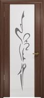 """Арт Деко Стайл Спация-3 орех американский триплекс белый с рисунком """"Балерина"""""""