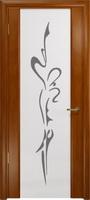 """Арт Деко Стайл Спация-3 анегри темный триплекс белый с рисунком """"Балерина"""""""