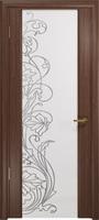 Арт Деко Стайл Спация-3 орех американский триплекс белый с рисунком  cо стразами