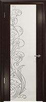 Арт Деко Стайл Спация-3 эвкалипт триплекс белый с рисунком  cо стразами