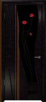 """Арт Деко Стайл Селена платан триплекс черный с фьюзингом """"Маки"""""""