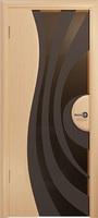 Арт Деко Стайл Ветра-1 беленый дуб триплекс тонированный с рисунком