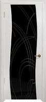 Арт Деко Стайл Вэла беленый дуб триплекс черный с гравировкой