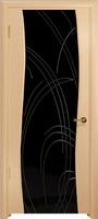 Арт Деко Стайл Вэла ясень белый триплекс черный с гравировкой
