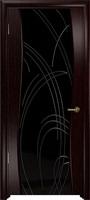 Арт Деко Стайл Вэла венге триплекс черный с гравировкой
