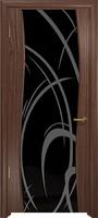Арт Деко Стайл Вэла орех американский триплекс черный с рисунком