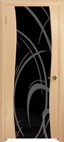 Арт Деко Стайл Вэла ясень белый триплекс черный с рисунком