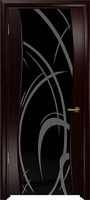 Арт Деко Стайл Вэла венге триплекс черный с рисунком