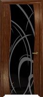 Арт Деко Стайл Вэла сукупира триплекс черный с рисунком