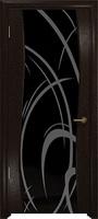 Арт Деко Стайл Вэла фуокко триплекс черный с рисунком