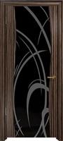 Арт Деко Стайл Вэла эбен триплекс черный с рисунком