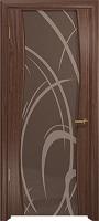 Арт Деко Стайл Вэла орех американский триплекс тонированный с рисунком