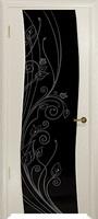 Арт Деко Стайл Вэла аква триплекс черный с рисунком со стразами