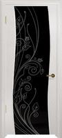 Арт Деко Стайл Вэла беленый дуб триплекс черный с рисунком со стразами