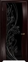 Арт Деко Стайл Вэла венге триплекс черный с рисунком со стразами