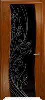 Арт Деко Стайл Вэла анегри темный триплекс черный с рисунком со стразами
