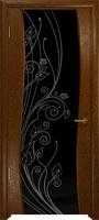 Арт Деко Стайл Вэла терра триплекс черный с рисунком со стразами