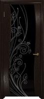 Арт Деко Стайл Вэла фуокко триплекс черный с рисунком со стразами