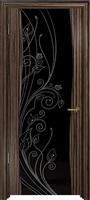 Арт Деко Стайл Вэла эбен триплекс черный с рисунком со стразами