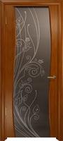Арт Деко Стайл Вэла анегри темный триплекс мокко с рисунком со стразами
