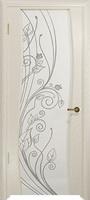 Арт Деко Стайл Вэла аква триплекс белый с рисунком со стразами
