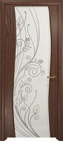 Арт Деко Стайл Вэла орех американский триплекс белый с рисунком со стразами