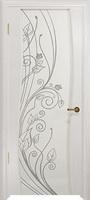 Арт Деко Стайл Вэла беленый дуб триплекс белый с рисунком со стразами