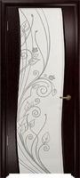 Арт Деко Стайл Вэла венге триплекс белый с рисунком со стразами
