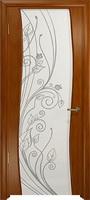 Арт Деко Стайл Вэла анегри темный триплекс белый с рисунком со стразами