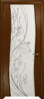 Арт Деко Стайл Вэла терра триплекс белый с рисунком со стразами
