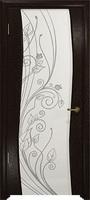 Арт Деко Стайл Вэла фуокко триплекс белый с рисунком со стразами
