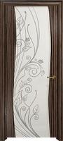 Арт Деко Стайл Вэла эбен триплекс белый с рисунком со стразами