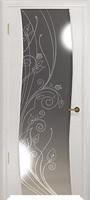 Арт Деко Стайл Вэла беленый дуб зеркало с рисунком со стразами