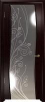 Арт Деко Стайл Вэла венге зеркало с рисунком со стразами