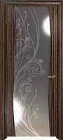 Арт Деко Стайл Вэла эбен зеркало с рисунком со стразами