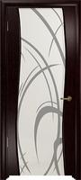 Арт Деко Стайл Вэла венге триплекс белый с рисунком