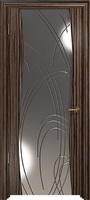 Арт Деко Стайл Вэла эбен зеркало с гравировкой